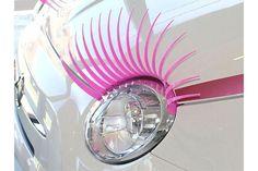 cilios para carro rosa - Acessórios para Carro Feminino