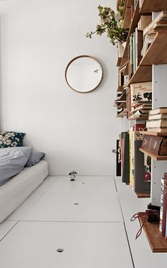 Bedroom shelves. Unique Home Of Danish Craft Artist - Gravity