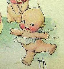Vintage Kewpie Postcard Close-Up Vintage Cards, Vintage Postcards, Doll Drawing, Doll Tattoo, Doll Display, Doll Costume, Costume Halloween, Madame Alexander, Vintage Paper Dolls