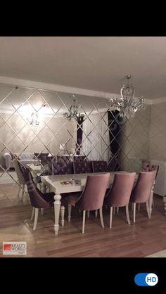 Dining Consoles - - Home Decoration Mirror Decor Living Room, Dining Room Table Decor, Elegant Dining Room, Luxury Dining Room, Dining Room Walls, Dining Room Design, Home Living Room, Dining Chair, Home Room Design