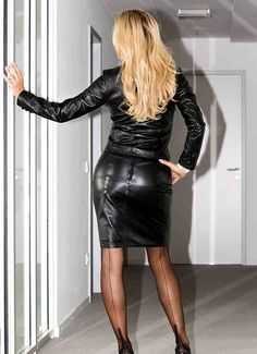 Pinterest Leather Skirts Leather Dresses And Leather Penc...