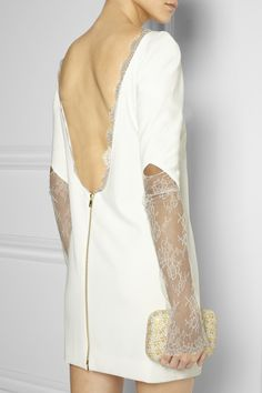 """Rime Arodaky""""Miss Jagger"""" lace-paneled crepe mini dress"""