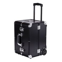 Sunrise 2 Wheels Mini Rolling Makeup Case Cosmetic Train Case with Adjustable Dividers and Key Locks, Black >>> You can find out more details at the link of the image.