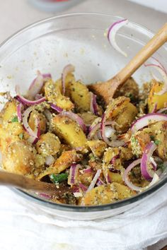 Roasted Potato Salad | http://www.worthcooking.net/roasted-potato-salad-2/