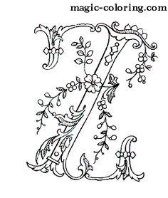 MAGIC-COLORING | Flowered Monograms (2)