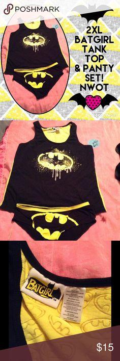 2XL BATGIRL TANKTOP & PANTY SET--NWOT! 2XL BATGIRL TANKTOP & PANTY SET--NWOT! Shirt was too Tight on me. 😭 Batgirl Intimates & Sleepwear Panties