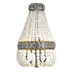 Cream Lana Wall Sconce in Pyrite Bronze/Cream/Gray by Currey and Company.