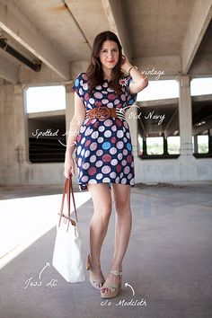 Seriously, how does one choose patterns so well? Stripes and polka dots? I would have never chosen that. Gorgeous!