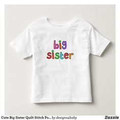 Cute Big Sister Quilt Stitch Polka Dot Letters Toddler T-shirt Cute Halloween, Halloween Shirt, Halloween Pumpkins, Toddler Boy Outfits, Toddler Boys, Kids, Big Brother Gifts, Mickey Mouse Clubhouse, Quilt Stitching