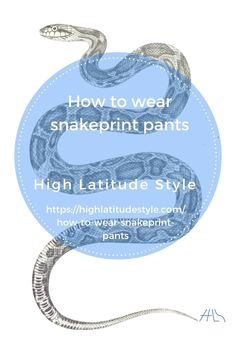 styling ideas on how to look awesome in snake print pants