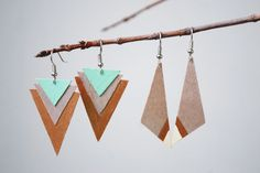 DIY Wood Earrings | The Merrythought.  Birch plywood and paint!