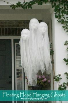 creepy Halloween floating heads