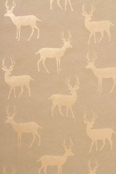 Metallic Stag Wallpaper - Anthropologie.com Would make cool DIY project for wrapping paper.