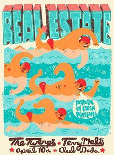 Real Estate Concert Poster
