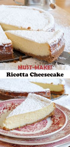 Proven ricotta cheesecake recipe. One of the most popular recipes on Garlic Girl, this must-make cheesecake will become your go-to cake for anytime or special occasions!