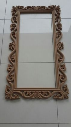 Mirror Frame.... Ceiling Design Living Room, Living Room Designs, Decorative Room Dividers, Futuristic Interior, Standing Mirror, Wood Mirror, How To Antique Wood, Wooden Frames, Wood Art