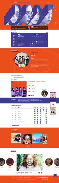 Korean singer Web site renewal _F(x)