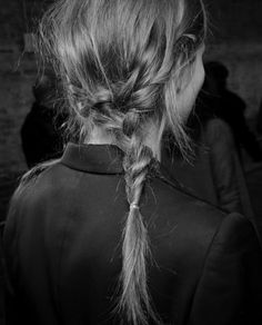 pretty and unusual/off center french braid