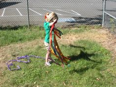 Ribbons, wind, and shadows, what fun!