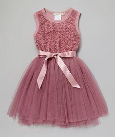 Look what I found on #zulily! Dusty Pink Ruby Rosette Tutu Dress - Infant, Toddler & Girls by Designer Kidz #zulilyfinds