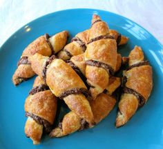 Rugelach - A beloved Jewish dessert with flaky dough and chocolate fruit filling. Step by step photos. Kosher, Yiddish, Dairy