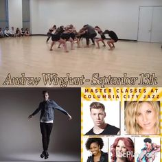 Andrew Winghart teaching the Sunday... September 13th At Columbia City Jazz Dance  (Temporary location :428 SouthLake Drive in Lexington, SC