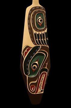 Bear Paddle Native Art, Native American Art, Indian Artwork, Pole Art, Haida Art, Inuit Art, Wood Carving Art, Kindergarten Art, Masks Art