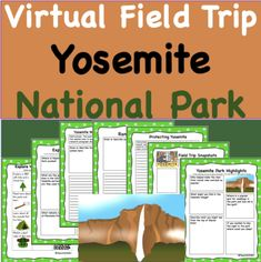 Explore Yosemite National Park without every having to leave the classroom! Students can explore in 360 VR as if there were really at the park.  As they explore, students can complete activities meant to deeper learning and develop deeper thinking to expand on this exciting trip and give students specific things to look for their journey.  Can be done in class or as distance learning with everything ready to go!  Only 2 dollars for over 30 pages and 10+ student activities to complete! Science Writing, Writing Activities, Teaching Schools, Elementary Schools, Yosemite National Park, National Parks, Travel Activities, Fun Activities, Virtual Field Trips