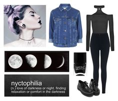 """250->Nyctophilia"" by dimibra ❤ liked on Polyvore featuring Miss Selfridge, Topshop, Nails Inc., women's clothing, women's fashion, women, female, woman, misses and juniors"