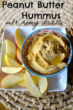Use maple syrup in place of honey. Peanut Butter Hummus with Apple Slices. Kid Approved Healthy Snack!