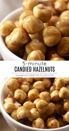 Candied Hazelnuts by The Toasty Kitchen #hazelnuts #toasted #roasted #candy #candied #cinnamon #fall #snack #garnish #homemade #recipe Nut Recipes, Sweets Recipes, Candy Recipes, Snack Recipes, Snacks, Desserts, Recipe Maker, How To Roast Hazelnuts, Salad Topping