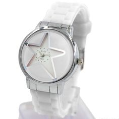 FW817LF New White Dial White Band PNP Shiny Silver Watchcase Women Fashion Watch