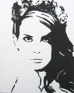Lana Del Rey Pop Art Black And White