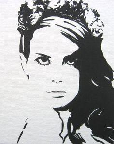 Lana Del Rey 8x10 original painting on canvas panel by reddropdrop, $18.00
