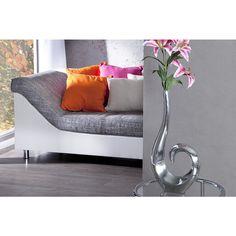 Moderne vaas Wave zilver 50cm - 8841