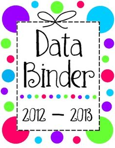 FREE. Data Binder with sheets to keep your guided reading, conferences, and reading levels organized!