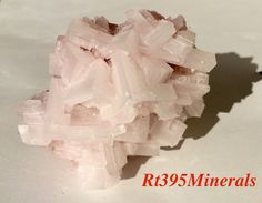 Pink Halite Fresh From Searles Lake CA Oct. 2014 by Rt395Minerals