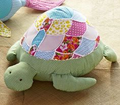 Love the mix and match look to update this classic gingham turtle!