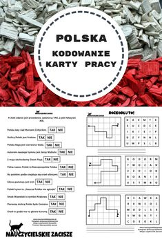 Karty pracy i karty do kodowania w tematyce Polska. Idealne na tydzień przed świętami majowymi. Dla klas 1-3. Learn Polish, Teacher Morale, Polish Language, Speech Therapy, Classroom Decor, Kids And Parenting, Kids Learning, Worksheets, Homeschool