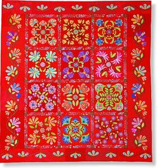Aunt Millie's Garden applique quilt. I have this pattern and one day I hope to make the quilt - but not in red.