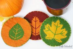 DIY Coasters for Fall: Felt Leaves - Crafts Unleashed