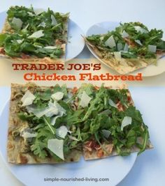 Weight Watchers Flatbread Pizza Recipe with Chicken and Arugula