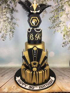 Great Gatsby 30th birthday cake  - Cake by Melanie Jane Sowa