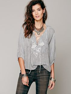 Ruffle Me Up Striped Blouse-- Would ROCK with Ralph Lauren's ten or brown suede maxi and soft lace up booties... LUXURIOUS!