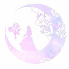 ディズニープリンセス月シルエットの画像 プリ画像