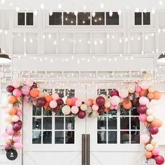 """Katherine Rose on Instagram: """"loved all the details at @sincerelyjules birthday party, especially this balloon garland!"""""""