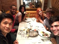 Our Shadowhunters cast • Katherine McNamara as Clary Fray • Dominic Sherwood as Jace • Matthew Daddario as Alec • Emeraude Toubia as Isabelle • Isaiah Mustafa as Luke • Harry Shum Jr. #Shadowhunters