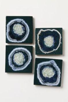 handmade celestial coasters // kerry brooks
