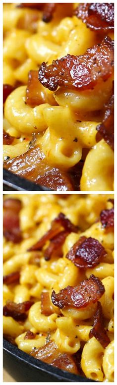 Jack Daniel's Smoky Bacon Mac and Cheese ~ Loaded with hickory smoked peppered bacon, tons of ooey gooey smoky cheese and a selection of spices to wake up all your senses... This is the mac and cheese of your dreams.