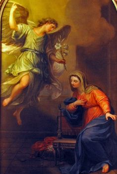 Blessed Mother Mary, Blessed Virgin Mary, Catholic Art, Religious Art, Angelus, Rennaissance Art, Love Is Comic, Christian Images, Sainte Marie